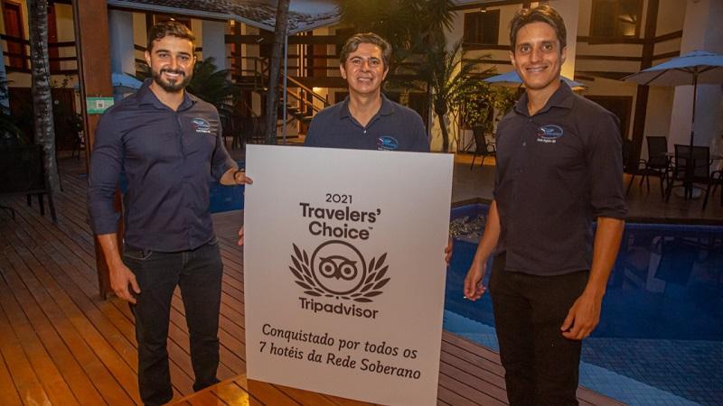 Rede Soberano de hoteis em Porto Seguro BA recebe o premio Travellers Choice